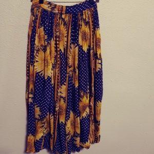 Sunflower PEASANT/FESTIVAL/BOHO Skirt